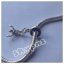 925 sterling silver Skydiver Charm. Hand made