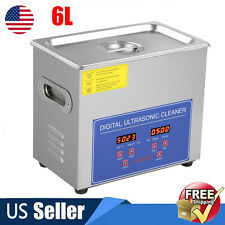 Commercial 6l Ultrasonic Cleaner Industry Heated Heater With Timer Jewelry Watches