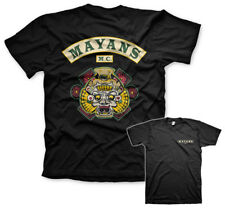 Mayans M.C. Backpatch Official Sons of Anarchy Black Mens T-shirt