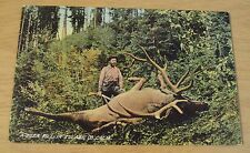 "Antique 1908 Colorized Postcard~""DEER KILL in TULARE CO""~California~"