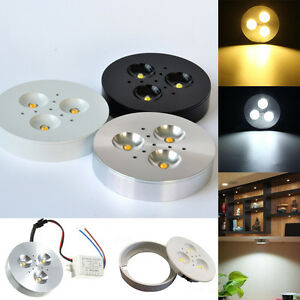 1/10/20x 3W Kitchen LED Under Cabinet Lighting Kit Puck Lamp Bulb AC85-265V LTW
