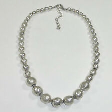 Silpada N1953 Atmospheric Bead Necklace .925 Sterling Silver Electroformed Large