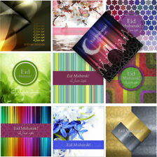 Eid Cards Premium Glossy Large 16x16cm: 5 Pack 10pk Single Ramadan Mubarak *NEW*