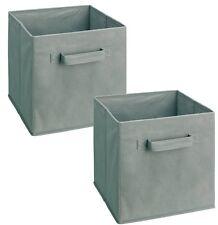 2 6PK Foldable Square Fabric Storage Bin Collapsible Box Clothes Organizer  Cube