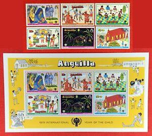 ZAYIX - 1979 Anguilla 331-336c MNH - International Year of the Child