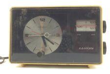 Vintage Retro 1970s Lloyd's Telechron Analog Alarm Clock Radio Jj-7143 Works