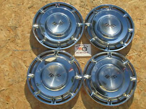 """1960 CHEVY IMPALA, NOMAD 14"""" WHEEL COVERS, HUBCAPS, SET OF 4"""
