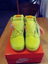 Nike Air Jordan 1 Retro Gatorade Cyber Yellow Lemon Lime Size 10