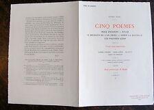 Carriere, Vierge, Willette, Dunki, Steinlen, Cinq poemes Victor hugo, Vient de