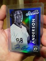 Tim Anderson 2017 Donruss Optic Studio Signatures Auto #STS-TA Blue 19/50