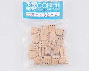 Corel B132 Crochet-Moufle 3 Yeux 10 MM (20 Pièces) Modélisme