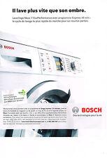 PUBLICITE ADVERTISING  2009   BOSCH    lave linge