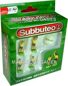 Subbuteo REFEREE BOX SET with 1 Ball Football Soccer Figures Miniature Referees