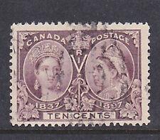 Canada Scott # 57     10 cent plum very fine used