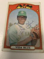 1972 Topps Vida Blue autographed card  #169 Athletics great shape!