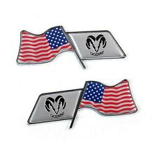 American USA US Motorsport Car Fender Decal Emblem Badge Sticker For Dodge Ram