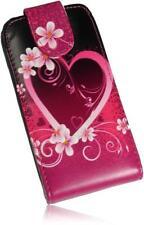Samsung S7562 Galaxy S Duos Handytasche PU Leder Case Heart/Herz Design Cover
