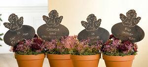 Gartenstecker Beetstecker ENGEL mit Spruch (G69398) Gedenkstecker Grabschmuck