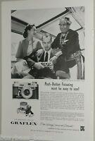 1957 GRAFLEX advertisement for Graphic 35 camera, Santa Fe Super Chief Indian