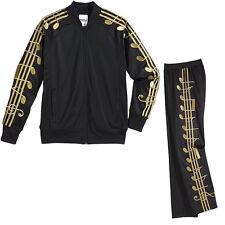 Adidas x Jeremy Scott Gold Music Notes Track Suit Jacket Pants M