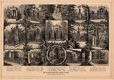 Berlin Dorotheenstädtischer Friedhof HOLZSTICH von 1883
