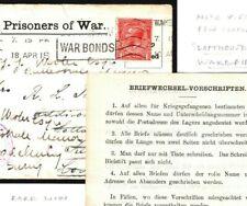 GB WW1 Cover Original *GPO POW MEMO* Censor Lofthouse Park 1918 Wakefield M323