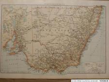 Landkarte von Südost - Australien, Victoria, Velhagen & Klasing 1894