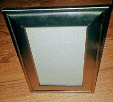 "Fetco Brushed Silver Metal Desk Top Picture Frame 7""x 9"" Easel Back"