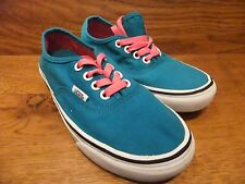 Vans Original Turquoise Canvas casual Trainers Size UK 3 EUR 35