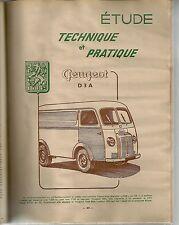 REVUE TECHNIQUE AUTOMOBILE 111 RTA 1955 ETUDE PEUGEOT CAMIONNETTE D 3 A BUICK V8