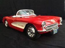 BBURAGO 1:18 - Chevrolet Corvette - 1957-Rosso e Bianco-Senza confezione-Muscle Car