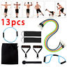 13Pcs Set Resistance Bands Workout Exercise Crossfit Fitness Yoga Training Tubes