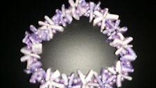 Bracelet in pale purple shell