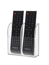 TV Air Conditioner Remote Control Holder Case Acrylic Wall Mount Storage Box