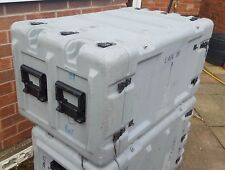 "Hardigg 8u 19"" Rack Shock-mount Military Flight case for Servers or Sound Gear"
