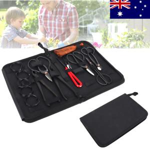 10Pcs Bonsai Tool Set Carbon Steel Extensive Cutter Scissors Kit with Nylon Case