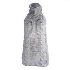 Women Sexy Cosplay Turtleneck Backless Dress Virgin Killer Pullover Sweater Warm