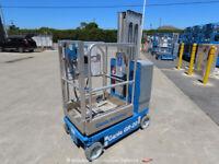 2013 Genie GR-20 20ft Electric Vertical Mast Lift Personnel Man Stock bidadoo