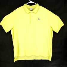 Lacoste Sz 9 Bright Lime Green Polo Rugby Casual Shirt Alligator Modern 3XL XXXL