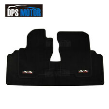 Black 4x4 Off Road Carpet Floor Mats Front Rear 3PCS For 2005-12 Nissan Frontier