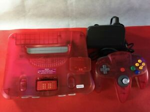 P12911 Nintendo 64 N64 console Clear red japan w/Controller set * Express