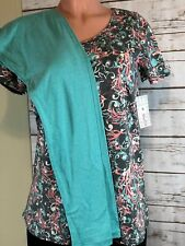LulaRoe 2 PC OUTFIT S Small Classic T & OS One Size Leggings GENDER REVEAL TOP