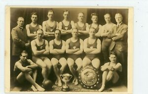 Derby Rare RP Derby Swimming Club (DSC on vest) Water Polo Team/Ball/ Trophies