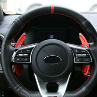 Red Alloy Steering Wheel Paddle Extension Shifter Cover For Kia K3 CEED Cerato
