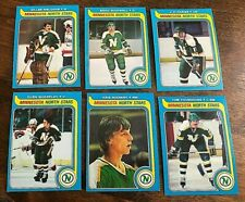 1979-80   TOPPS MINNESOTA NORTH STARS 6 card team lot