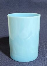 """Vintage Blue Opalescent Milk Glass Tumbler - Early 1900s EAPG - 3 3/4"""" x 2 3/3"""""""
