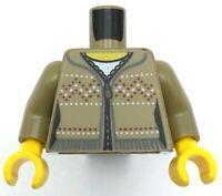 Lego Ninjago Black Minifig Torso Brown Rope Gold Medallion Black Undershirt Cole
