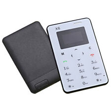 Ultra Thin Aiek X6 Mini Card Phone Slim Student Unlocked Small Mobile Cell BT