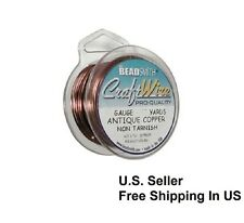 Antique Copper Wire 18 Ga 7 Yd Round Dead Soft Non Tarnish (Pack Of 1 )