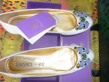 Versace Cruise for h&m Ballerinas in patent leather. Size 41, US 10, UK 8 New + Label